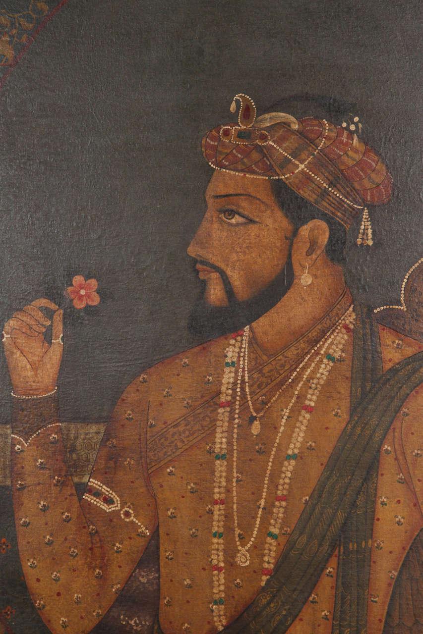 Indian King Maharaja And Queen Maharani Painting At 1stdibs
