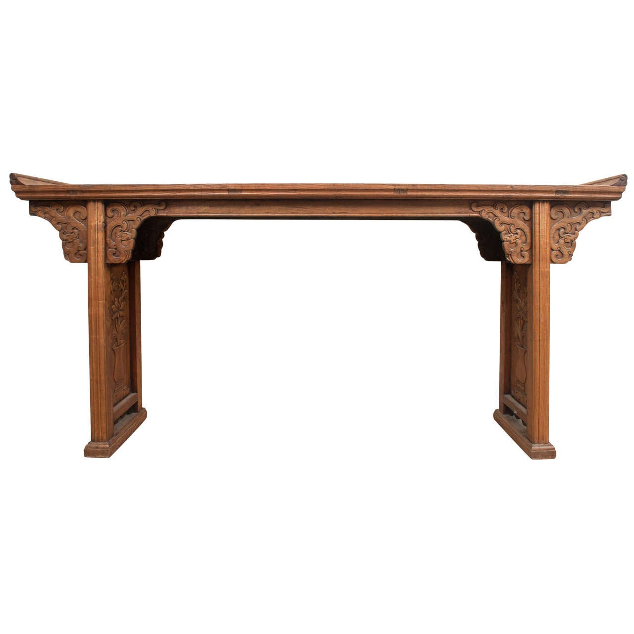 chinese scroll top altar table 19th century