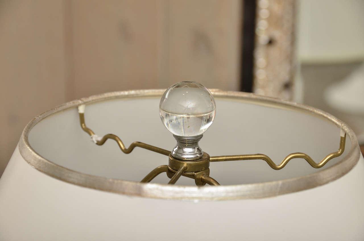 Pair of Crystal Art Deco Lamps 5