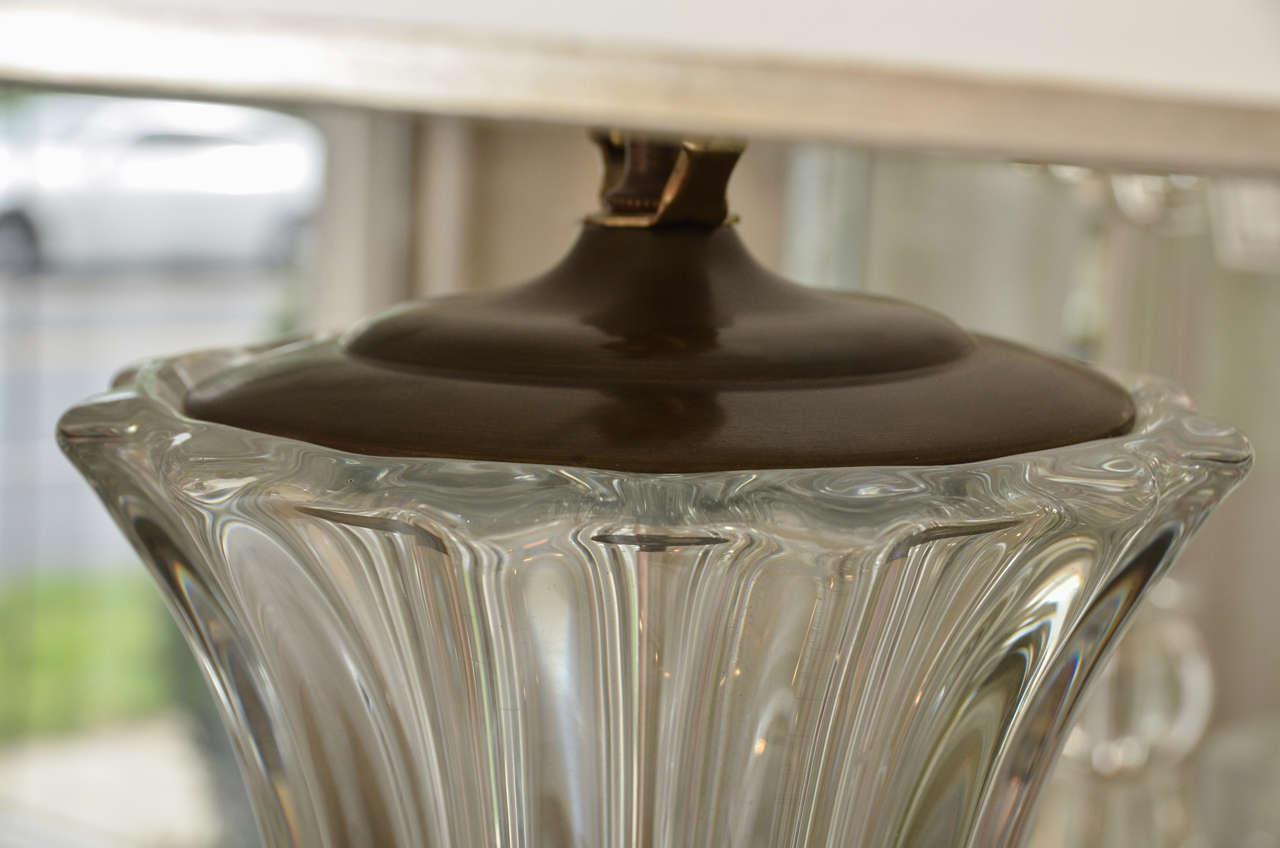 Pair of Crystal Art Deco Lamps 6
