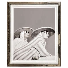 Fashion Photograph in Silvered Metal Frame by Willie Christie