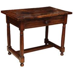 16th-17th Century Walnut Side Table
