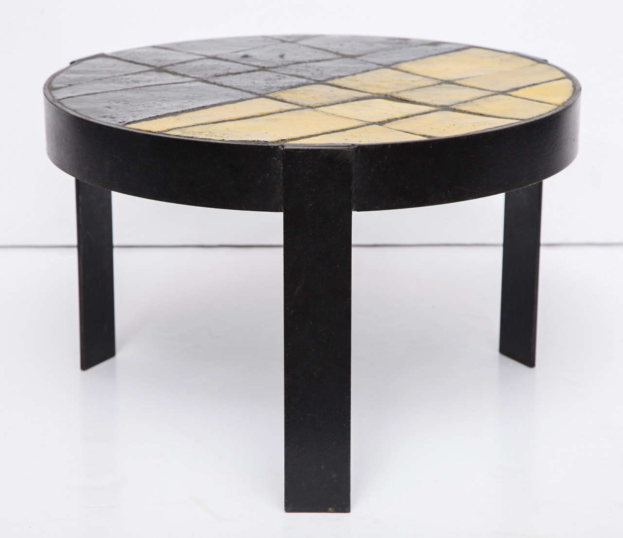 Mid-20th Century Unusual Ceramic Tile Top Table For Sale