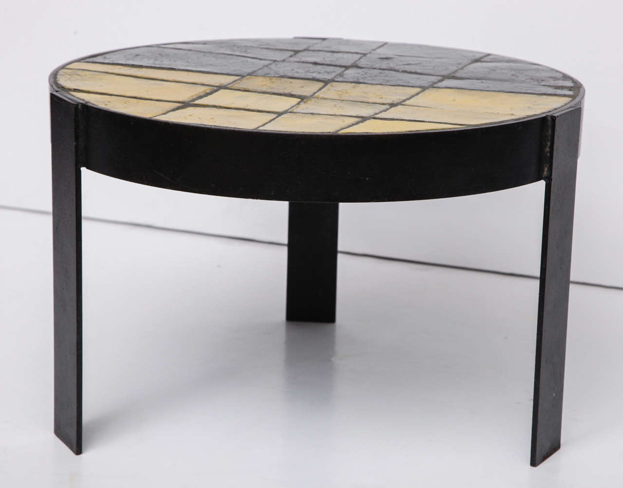 Unusual Ceramic Tile Top Table For Sale 1