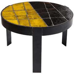 Unusual Ceramic Tile Top Table