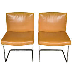 set of 8 freischwinger dining room chairs by Jean-Pierre Dovat for De Sede