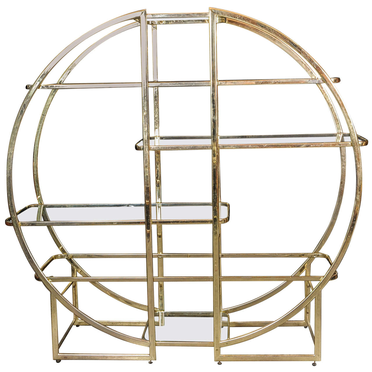 Architectural circular vitrine etagere in the style of - Etagere vitrine ...
