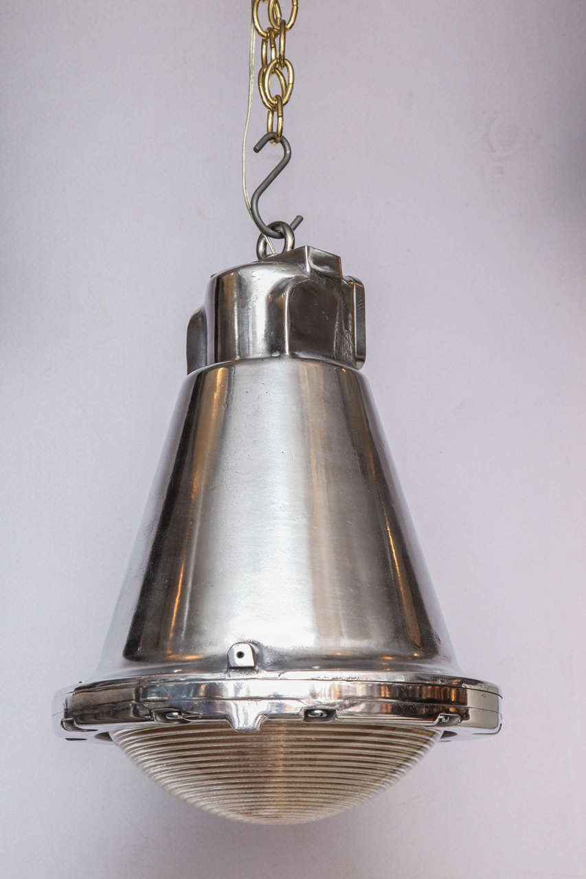 Polished Conical Industrial Lights For Sale 3