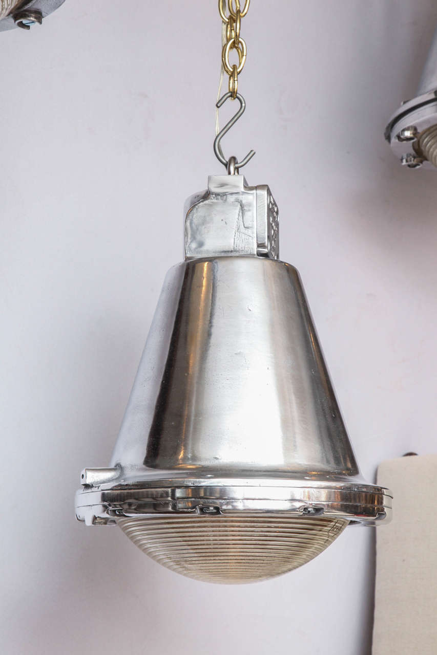 Polished Conical Industrial Lights For Sale 4