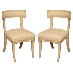 Pair of Painted Klismos Side Chairs, circa 1940