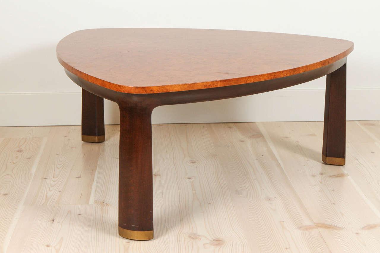 Carpathian Elm Coffee Table By Edward Wormley For Dunbar At 1stdibs