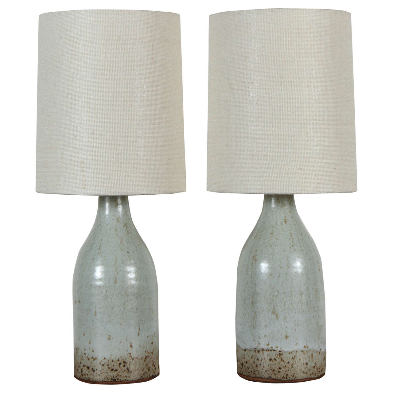 Pair Of Ceramic Lamps By Victoria Morris For