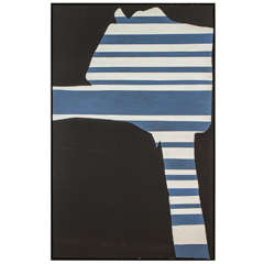 """Stripes on Black"" by Adja Yunkers"