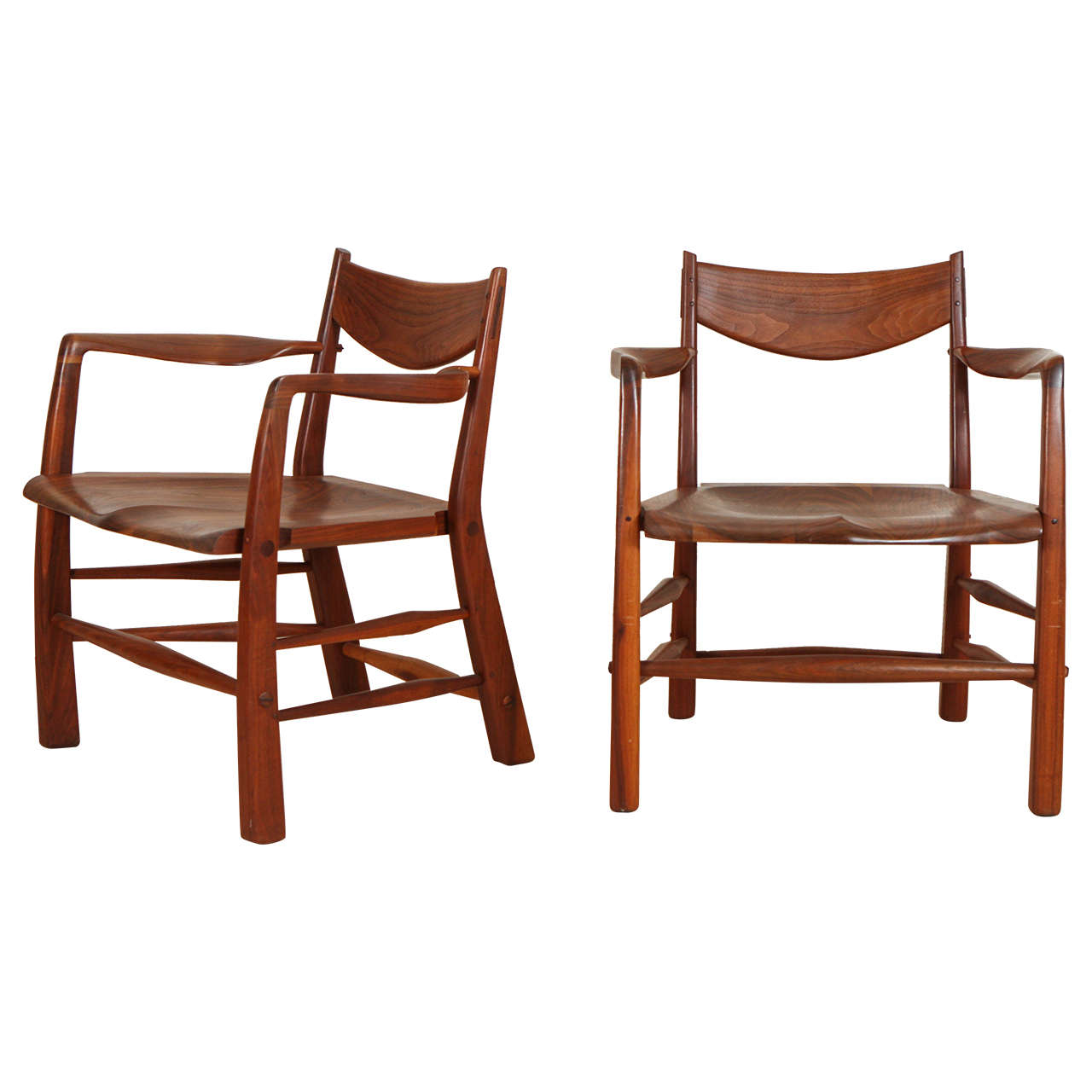 Pair of Walnut Chairs by Richard Patterson