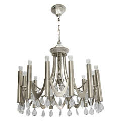 Chrome Chandelier by Sciolari, 1960s