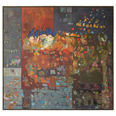 """Large Lois Foley Abstract Painting, 1994 """"B"""""""