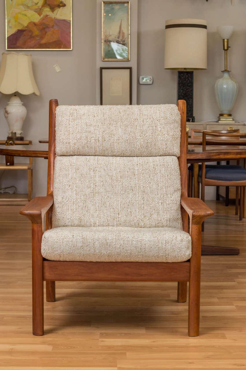 Danish Modern Teak Lounge Chair By Glostrup Mobel Fabrik At 1stdibs