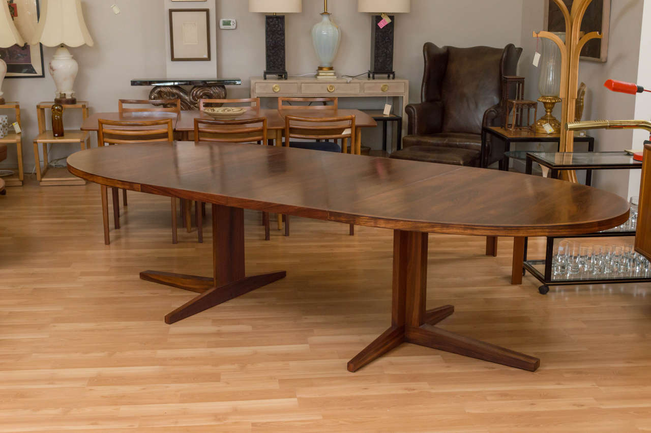 Oval Rosewood Dining Table By John Mortensen 2