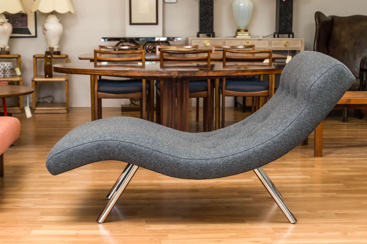 Vintage Curvy Adrian Persall Style Lounge Chair At 1stdibs