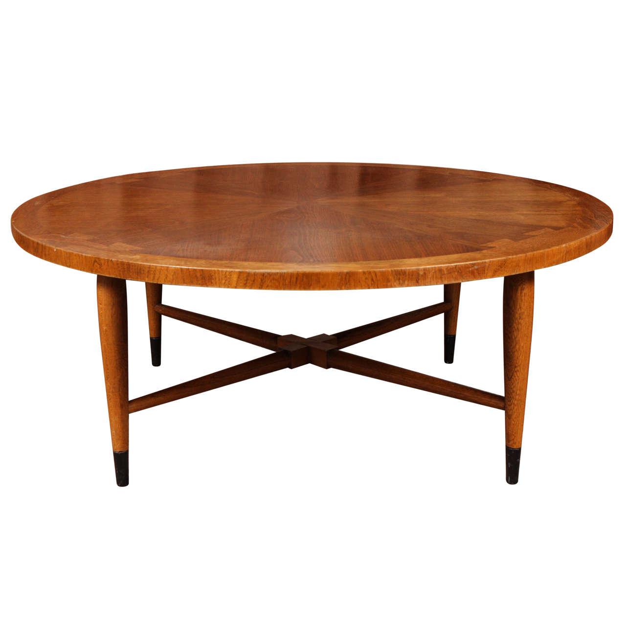 Lane Circular Coffee Table At 1stdibs