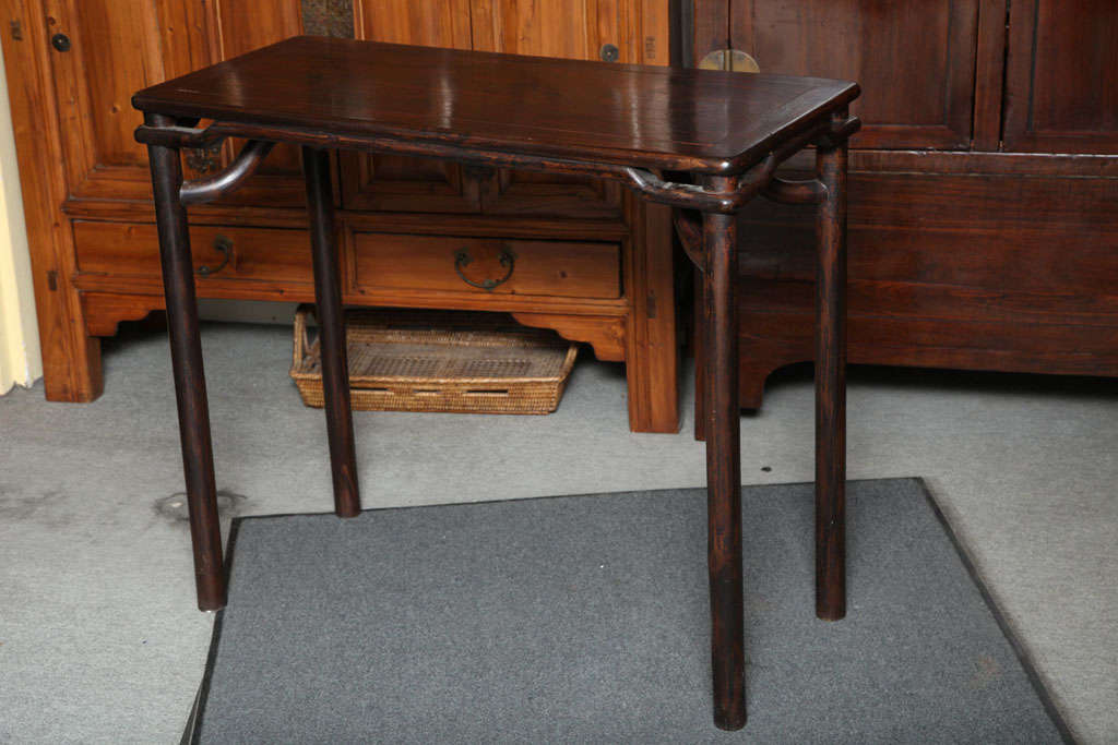 This Elegant Elmwood Ming Style Small Console Table Was Made In China Circa 1880 During