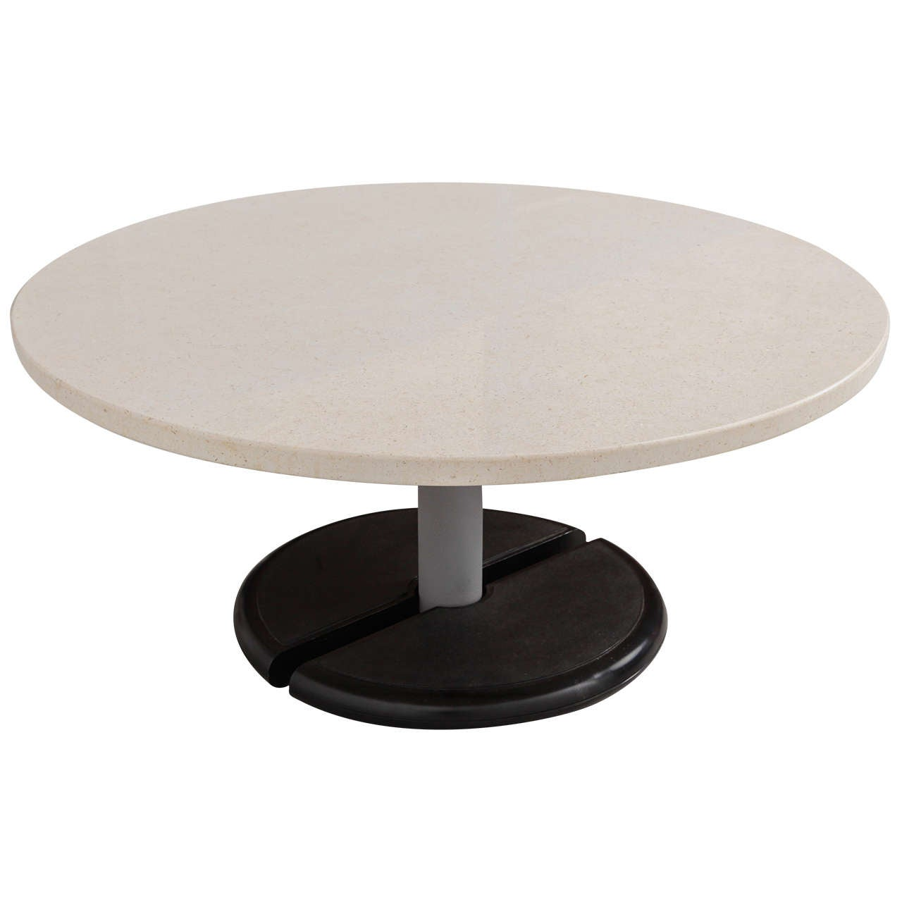 Round marble topped coffee table at 1stdibs Round marble coffee tables