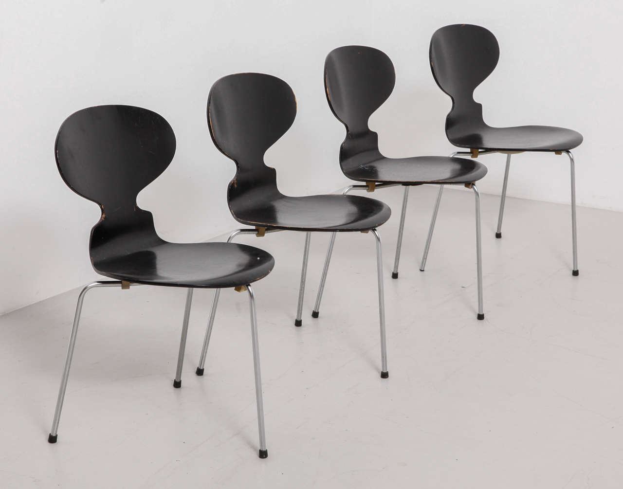 Arne Jacobsen Black Ant Chairs.