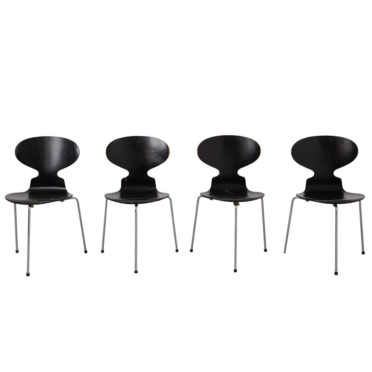 """Set of Four """"Ant"""" Dining Chairs Designed by Arne Jacobsen for Fritz Hansen For Sale"""