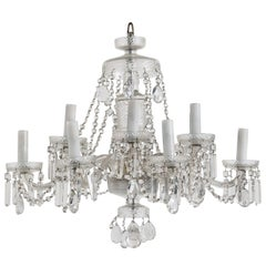 Bohemian Beaded Crystal Two Tiers Chandelier