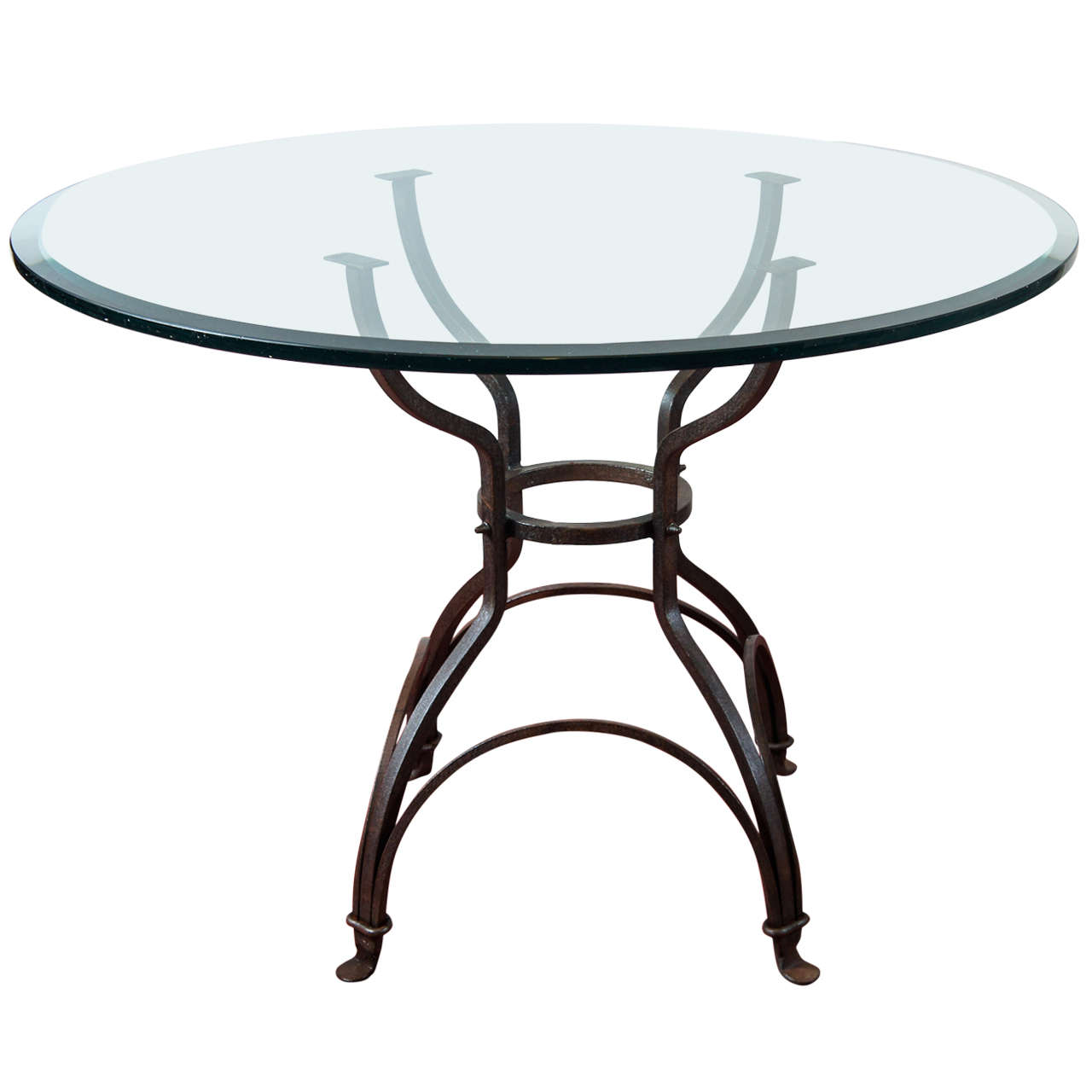 garden metal base dining table at 1stdibs