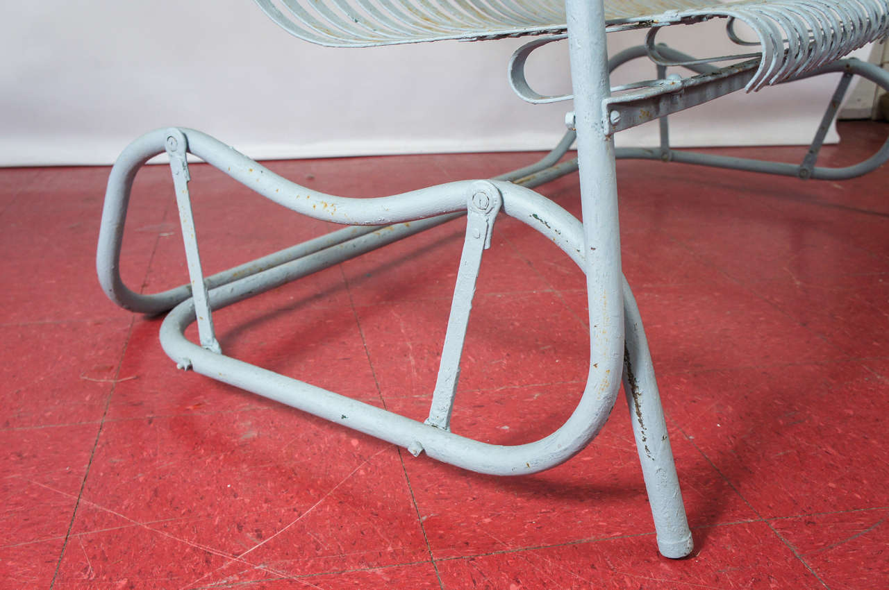 Old Fashioned Metal Glider At 1stdibs
