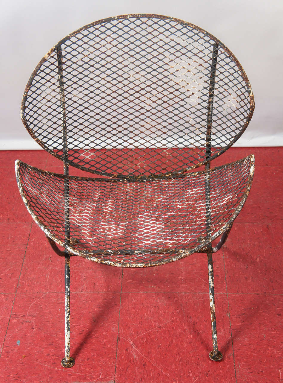 Idea nuova realtree outdoor butterfly papasan chair -  Pair Of Mesh Metal Saucer Outdoor Chairs At 1stdibs