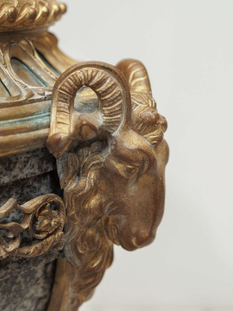 Pair of French Marble and Gilt Bronze Cassolet For Sale 1