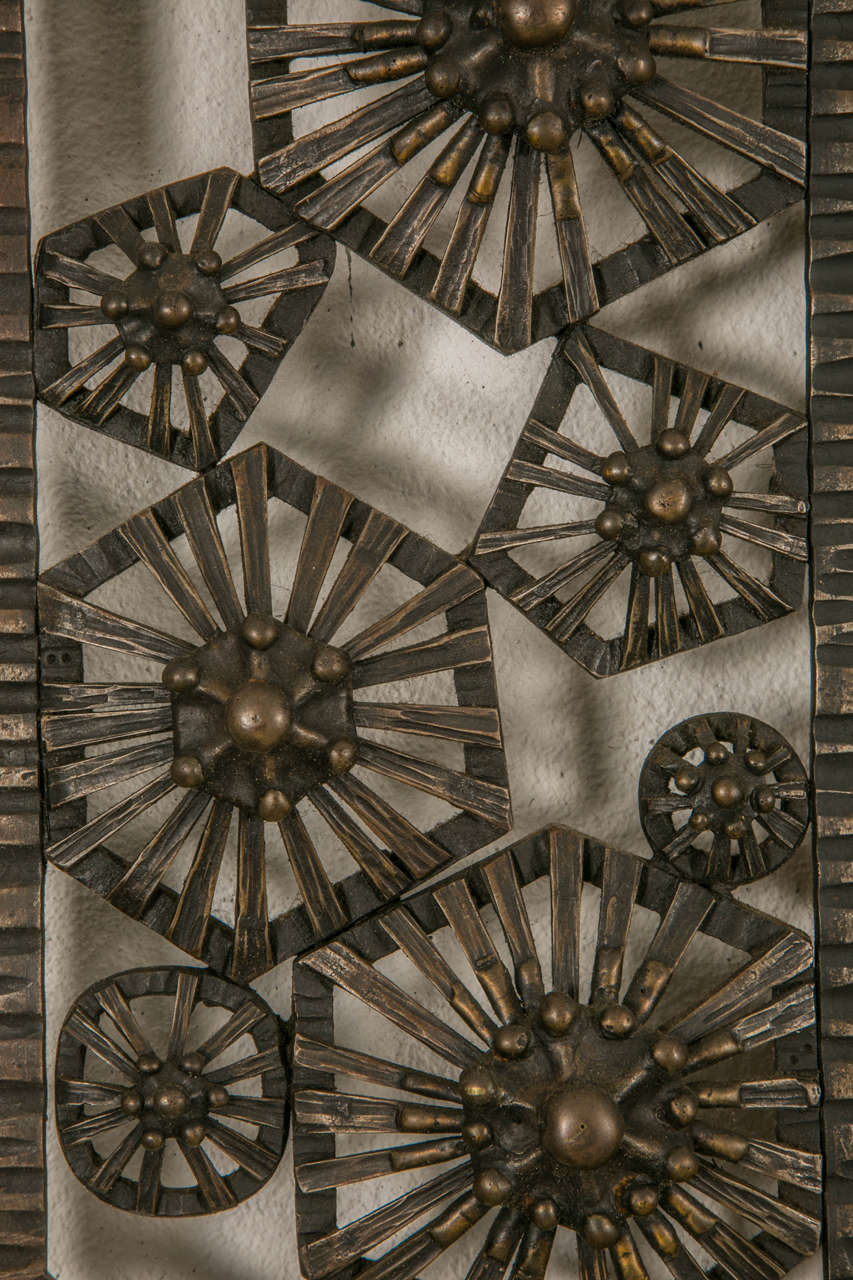 Art Deco Wrought Iron Wall Mirror Circa 1930 At 1stdibs