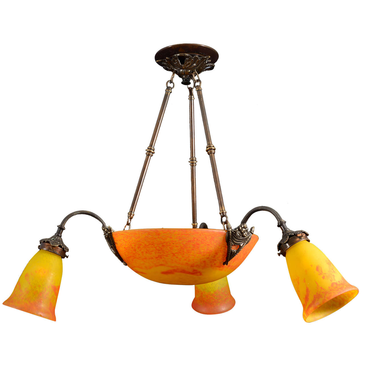 Art Deco Chandelier by Muller Freres