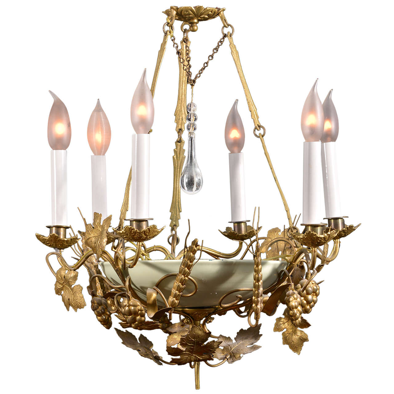 whimsical six light chandelier at 1stdibs