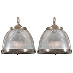 1930s Holophane Fixtures with Diffusers, One Available