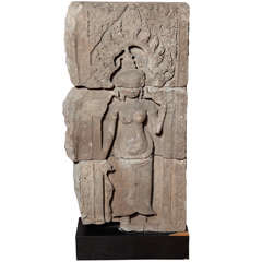 12th or 13th Century Cambodian Khmer Apsara Dancer Architectural Temple Carving