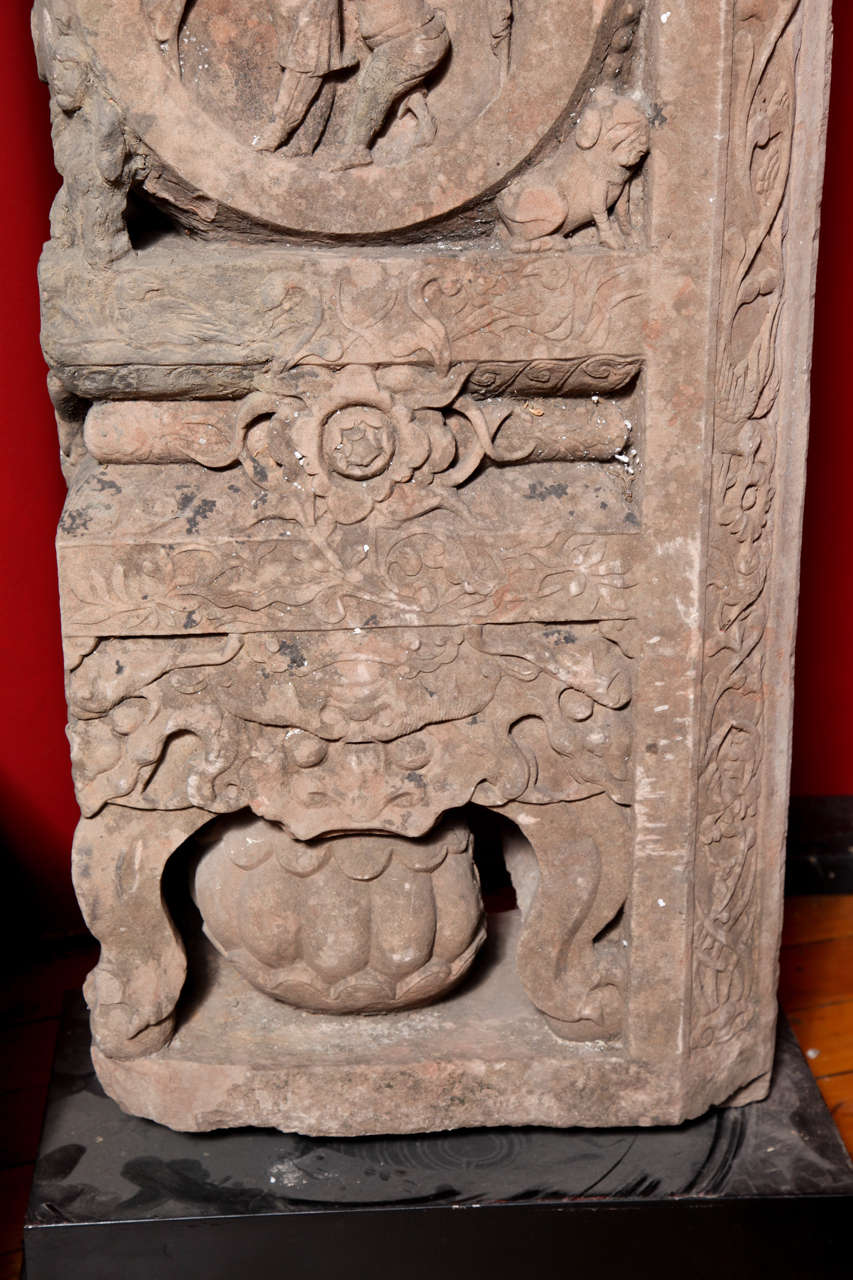 Rare antique chinese stone architectural carvings ming