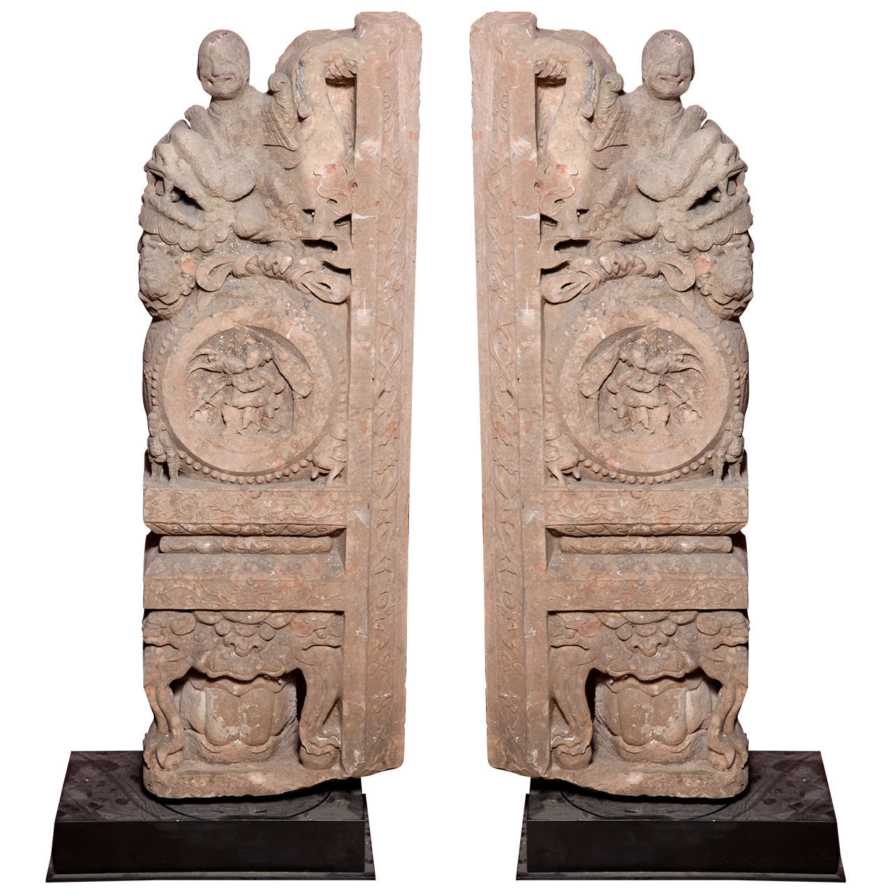 Stone carving souvenirs of pharaohs cats scarabs and gods on