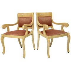 Pair of Goatskin Chairs
