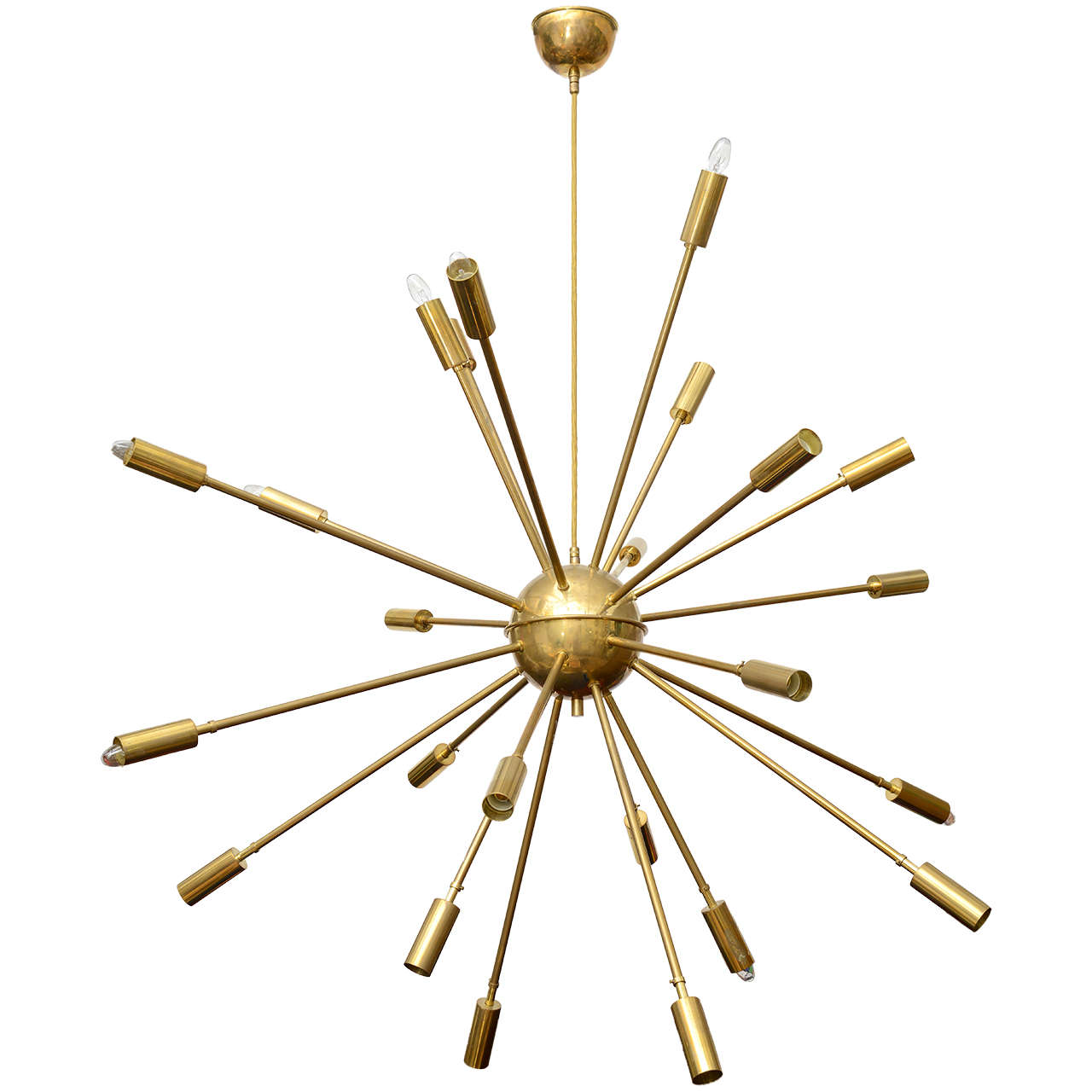 Stilnovo Sputnik chandelier, 1960s, offered by Galleria d'Epoca