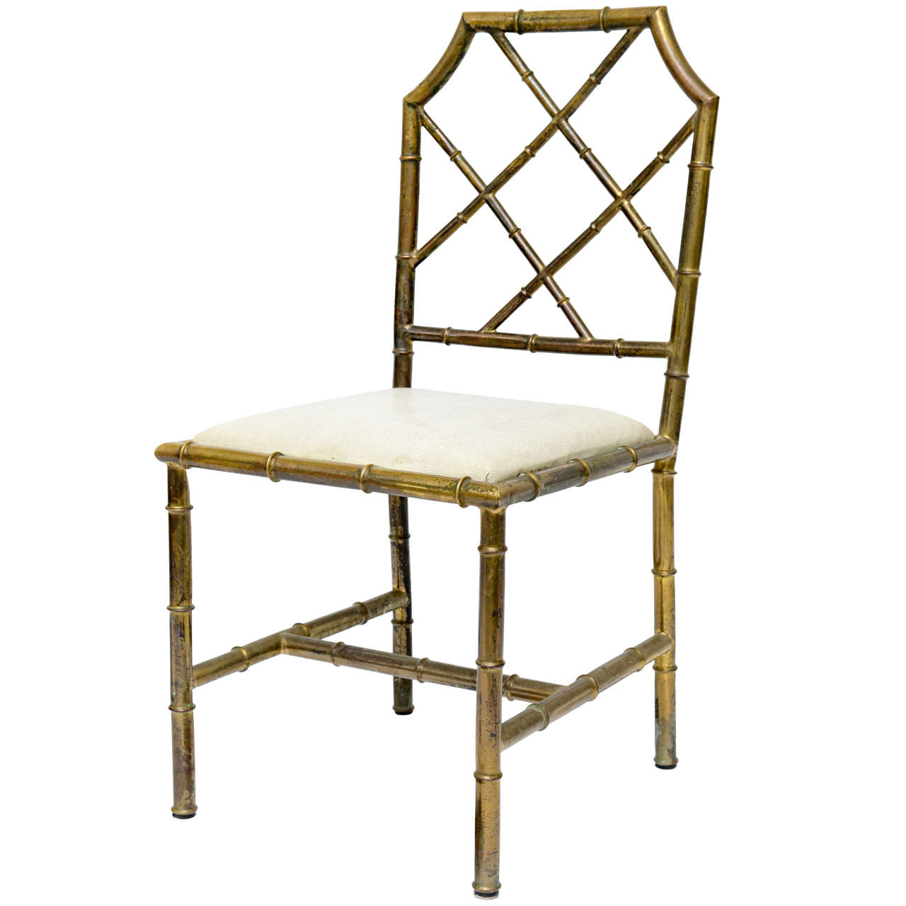 Italian Faux Bamboo Brass Chair At 1stdibs