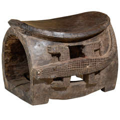 Baule Tribe African Stool from Ivory Coast