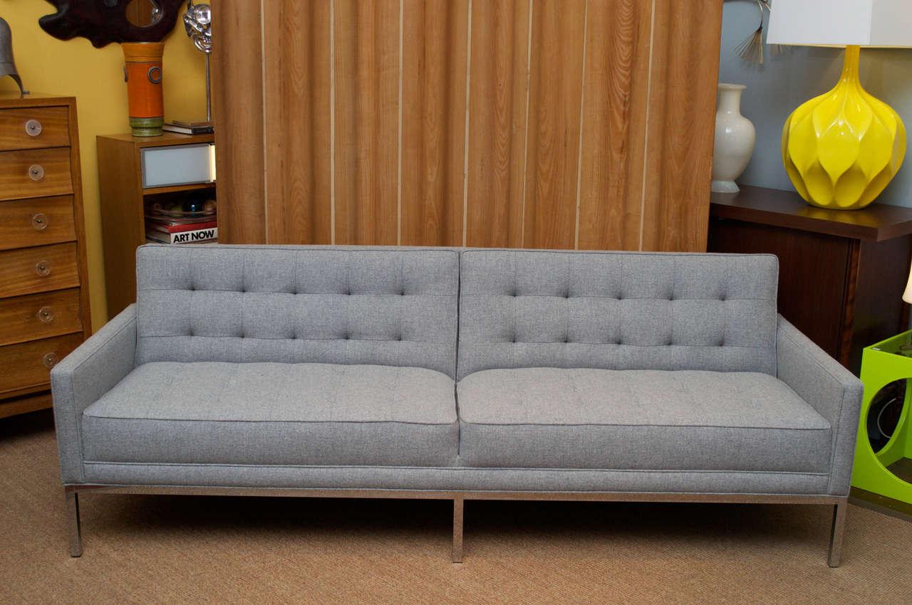 Mid Century Modern Steel Case Sofa At 1stdibs