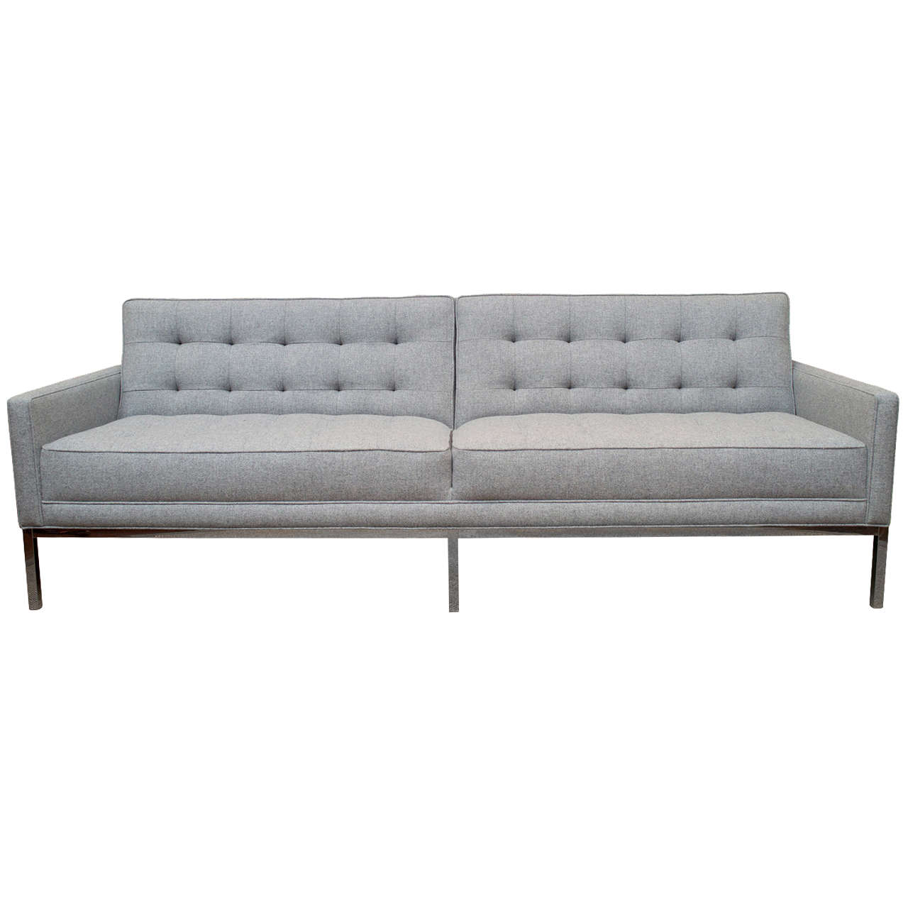 Captivating Mid Century Modern Steel Case Sofa For Sale