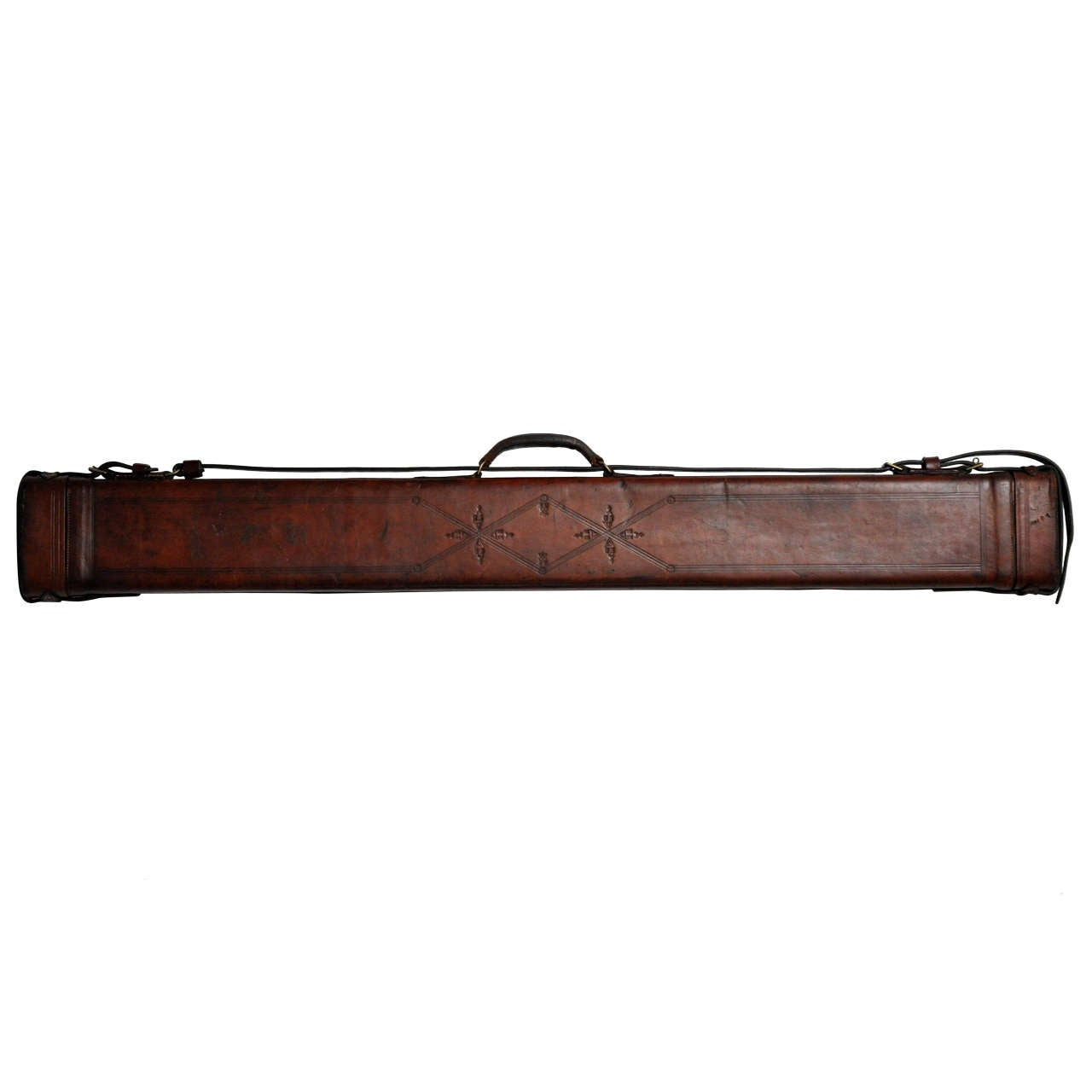 American leather fishing rod case circa 1920 at 1stdibs for Fishing rod cases