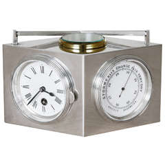 Sterling Silver Combination Clock