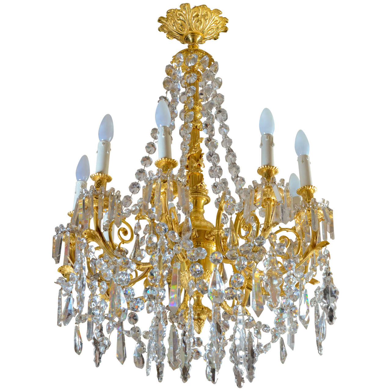Gorgeous Baccarat Chandelier At 1stdibs