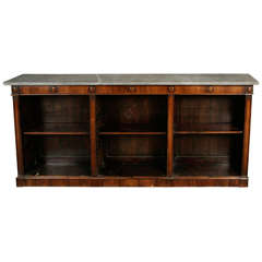 Good Regency Marble Topped Rosewood Bookcase